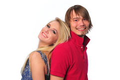 Young couple having fun Royalty Free Stock Photos