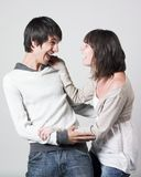 Young couple having fun royalty free stock photo