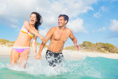 Free Young Couple Having Fun In The Sea Royalty Free Stock Photos - 94121518
