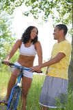 A Young Couple Having Fun Outdoor Stock Images