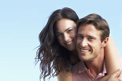 Young Couple Having Fun Outside Stock Photography