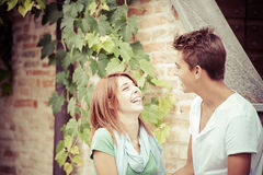Young couple having fun in the park Royalty Free Stock Image