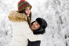 Young couple having fun and resting in park Stock Photo