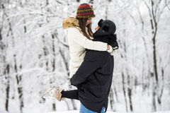 Young couple having fun and resting in park Royalty Free Stock Photography