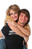 Young couple having fun and smiling Royalty Free Stock Photos