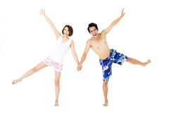 Young couple having fun on summer vacation Royalty Free Stock Photography