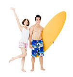Young couple having fun on summer vacation Royalty Free Stock Photo