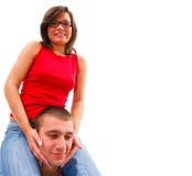 Young couple having fun together stock photos