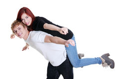 Young couple having fun together Stock Image