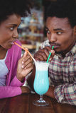 Young couple having mocktail Stock Photo