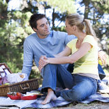 A young couple having a picnic Royalty Free Stock Photo