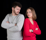 Young couple having problems Stock Images