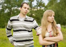 Young couple having quarrel. Royalty Free Stock Photo