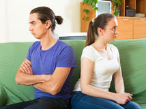 Young couple having quarrel at home Royalty Free Stock Photo