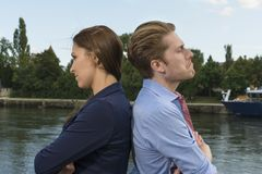 Young couple having relation problems Royalty Free Stock Images