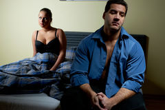 Young couple having relationship problems Royalty Free Stock Photo