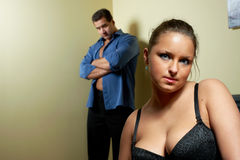 Young couple having relationship problems Royalty Free Stock Photos