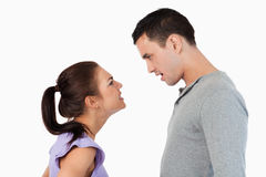 Young couple having relationship problems Royalty Free Stock Image