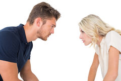 Young couple having relationship problems Stock Image