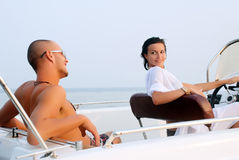 Young couple having a rest on a vacation Royalty Free Stock Photo