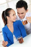 Young couple having a tea Stock Image