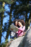 Young Couple On Hike In Countryside Royalty Free Stock Photos