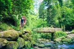 Young Couple Hiking Stock Image
