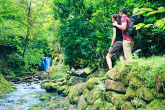 Young Couple Hiking Royalty Free Stock Image