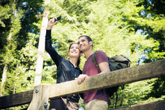 Young Couple Hiking Stock Photo