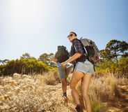 Young couple on hiking trip Stock Photography