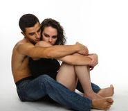 Young couple holding each other Royalty Free Stock Images