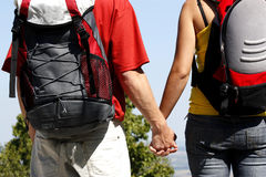 young couple holding hands Royalty Free Stock Photo