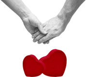 A young couple holding hands Stock Image