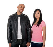 Young couple holding hands royalty free stock photography