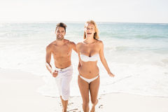 Young couple holding hands Stock Image