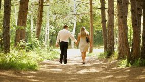 Young Couple Holding Hands stock video