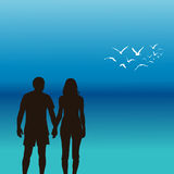 A young couple holding hands Royalty Free Stock Photography