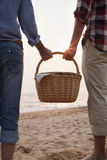 Young Couple Holding Picnic Basket Royalty Free Stock Photography