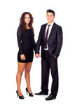 Young couple holding their hands while standing Royalty Free Stock Image