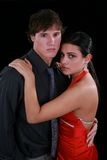 Young Couple Holding together Low Key Portrait Royalty Free Stock Photography
