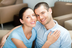 Young couple at home Stock Images