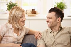 Young couple at home Stock Photography