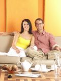 Young couple home. Stock Photo