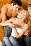 Young couple at home Royalty Free Stock Photo