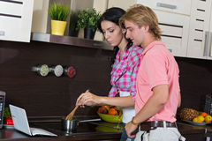 Young couple  in  home Stock Photo