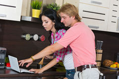 Young couple  in  home Stock Image