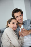 Young couple at home relaxing Royalty Free Stock Images