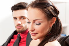 Young couple at home Stock Photos