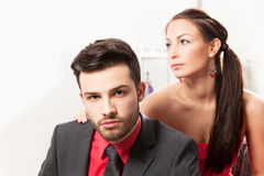 Young couple at home Royalty Free Stock Photography