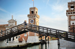 Young couple in honeymoon in Venice, Italy Royalty Free Stock Photo